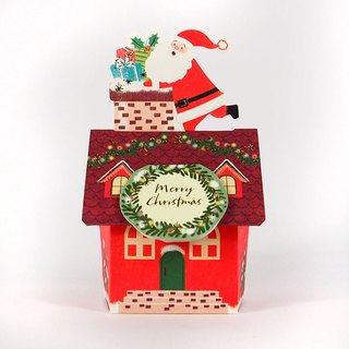 Santa Claus Diamond Chimney Gives Gifts to Christmas Cards [Hallmark-Card Christmas Series]