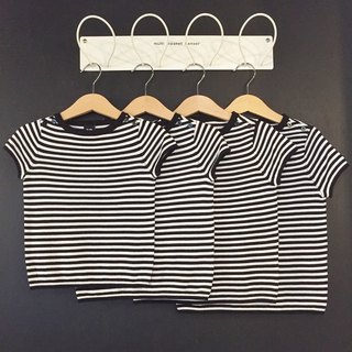TiDi dark blue striped cotton shirt white
