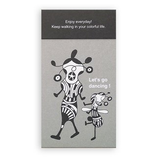 Portable note paper (gray) Let 's go dancing.