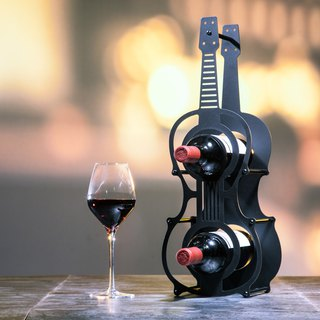 【OPUS Metalart】European Chic Metal Iron Violin Shape Wine Rack / Metal Home Bar