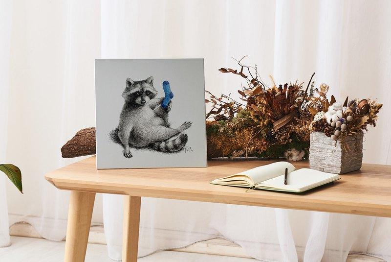 抬腿浣熊 - 鋁合金裝飾板 Decor Board AL6061