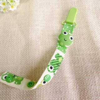 Little frog - bag buckle pacifier chain / toy chain