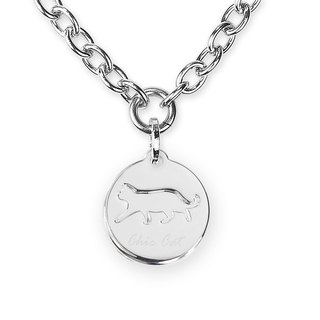 The only 304 stainless steel necklace - simple cat card ((send lettering service))