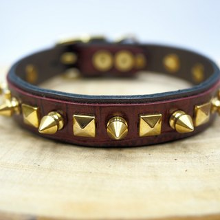 Golden Warrior Golden Warrior Lambskin Rivet Limited Collar (5 pieces worldwide)