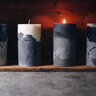 Mountain Order Page - Chiseled Cement Candles - Large