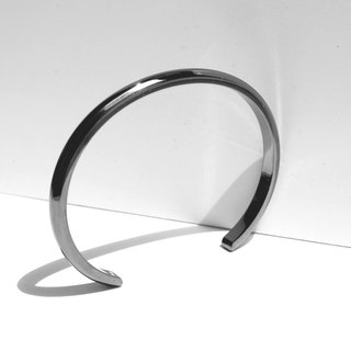 NEW COLOR! Wide Bevel Cuff Bracelet | Grey Polished Stainless Steel
