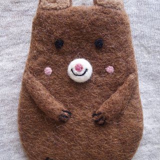 felt dog case, felt case, custom case, iPhone sleeve