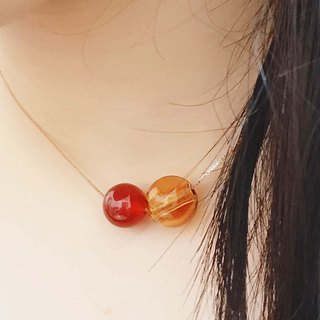 Red Onyx July Birthstone Diffuser Necklace Rose Gold S925