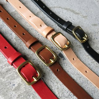 2cm wide vegetable tanned leather strap four colors can be selected [LBT Pro]