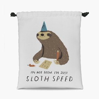 Drawstring Pouch - 束口袋 - sloth speed