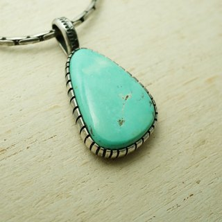【janvierMade】High Grade Nevada Turquoise sterling silver PENDANT and Necklace
