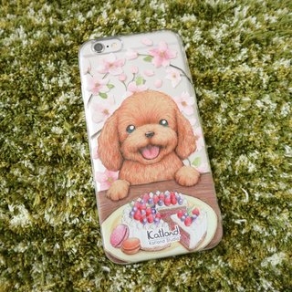 Yourself - Cherry Blossom Dog Dog Poodle Case Case Case Case F1D06