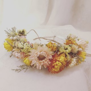 ✦ ✦ love forever / dried flower bridal headdress / dried flower wreath