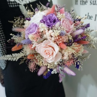 Happy wedding - not withered dry flowers eternal flowers - bride big bouquet*exchange gift*Valentine's Day*wedding*birthday gift