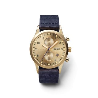 TRIWA Gold Lansen- Navy Canvas Classic LCST103-CL060713