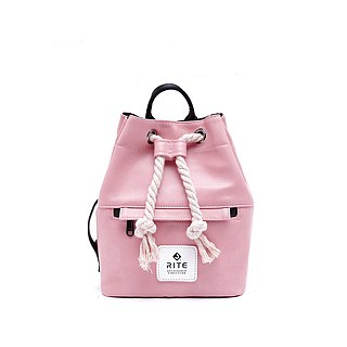 [RITE] Le Tour Series - Dual-use Boxing Small Backpack - Leather Pink