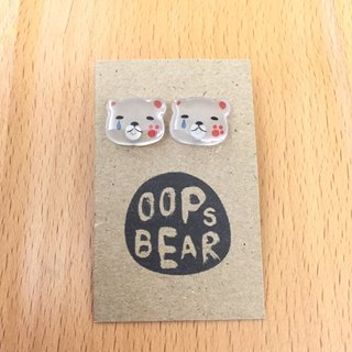 Oops bear - lose in love earring