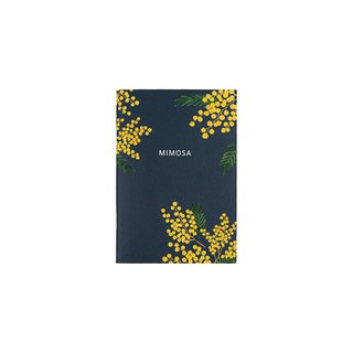Flower bloom horizontal line notebook S size 05. mimosa