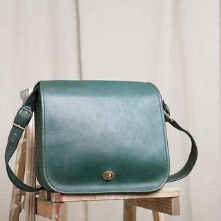 70s Vintage FRYE American Green Antique Bag