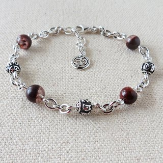 Sterling Silver*Lucky Fortune [6-character Great Brightening Curse] Red Ghost Cornucopia Bracelet** Lucky, Lucky, Evil, Guardian