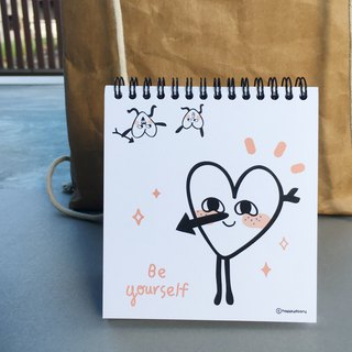 Two-sided Cover Happy Drawing Pad / Note Book / Square Booklet / Sketchbook / Be Yourself / INC 2 Postcards