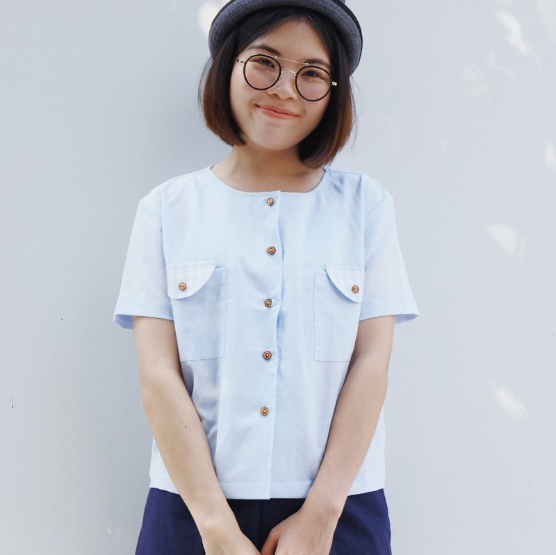 Tom Beary Shirt : Soft Blue