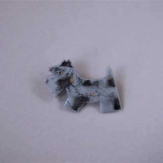 Terrier brooch feeling gray