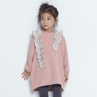Comoyo- lotus leaf trim dress (7-12y)