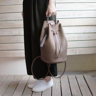 Goody Bag -Warm Grey Bucket Bag+Tassel Set