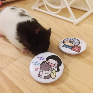 Hamster music circle / badge (2 models)
