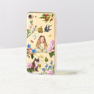 Animal clear phone case Flower iPhone x Case OPPO r11 case Samsung note8 case s8