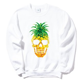 PINEAPPLE SKULL University T bristles white pineapple skull fruit food illustration design own brand triangle