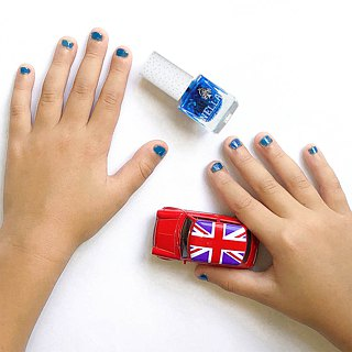 British [Miss Nella] children's water-based tear-proof safety nail polish - Cool child dark blue (MN21)
