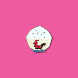 Rooster Bowl Pin