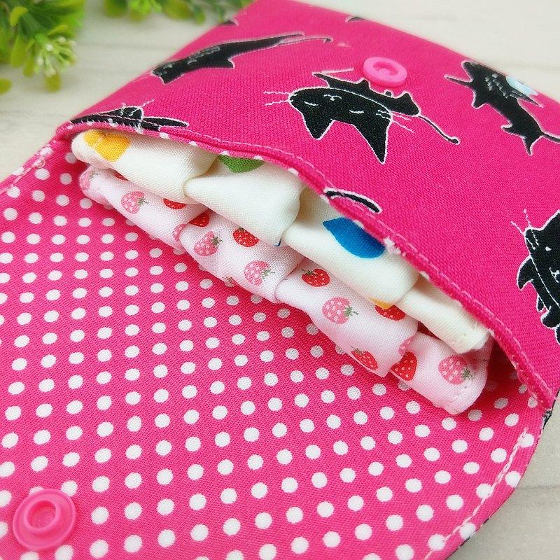 免費繡名字。貓咪控-2款可選。口罩收納袋 / 衛生棉包