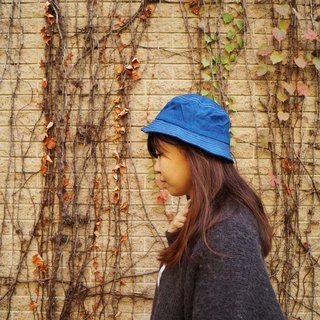 Blue dyed fisherman hat | Pure