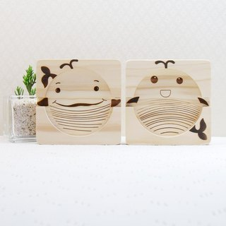 Goody Bag- Whale Hand in Hand Phone Holder Coaster Business Card Holder Customized Name Congratulations