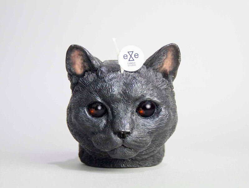 American Shorthair Candle - black