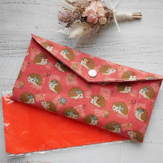 Hedgehog red envelope bankbook storage bag