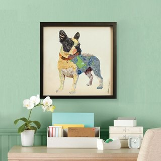 French Bulldog decorative painting three-dimensional collage