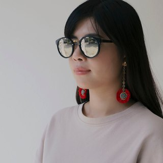 Raya earrings with Napali pandant (clip-on / piercing)