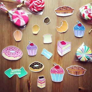 SillyCilly sharp Xili dessert sticker stickers group stickers