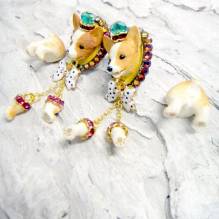 TIMBEE LO Split Gouki Corgi Koke Puppy Earrings Stud Single Release