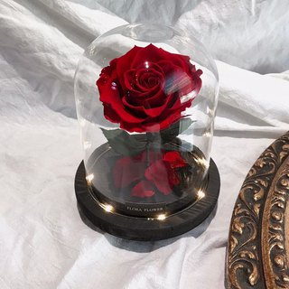 Everlasting Flower Night Light - Beast Rose Classic Black Base