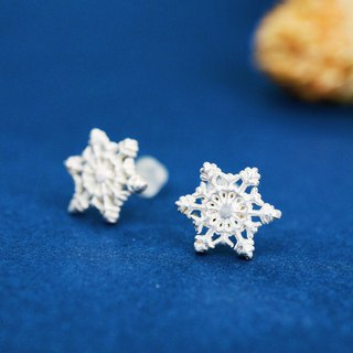 [Winter Series] Snowflake Ears 925 Sterling Silver