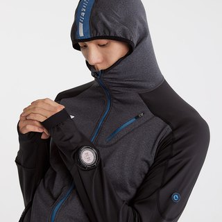 【SUPERACE】MEN'S RUNNING SWEAT JKT 2.0 / BLACK