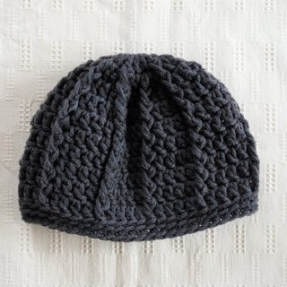 yuoworks / Knit hat / dark gray / beanie / wool