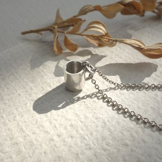 Sterling Silver - Mini Mug Necklace - Merchandise with Silver Chain