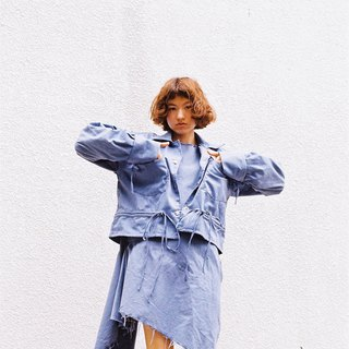 Smocking Shirt (Blue Denim)