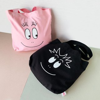 BARBAPAPA Mr. Bubble Genuine License - Shoulder Smile Canvas Shopping Bag/Shoulder Backpack